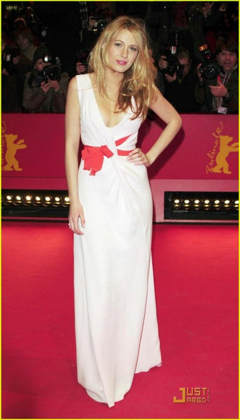 Pink Blake Lively Sweetheart Dress V Neck Prom Red Carpet Dress Berlin Film Festival