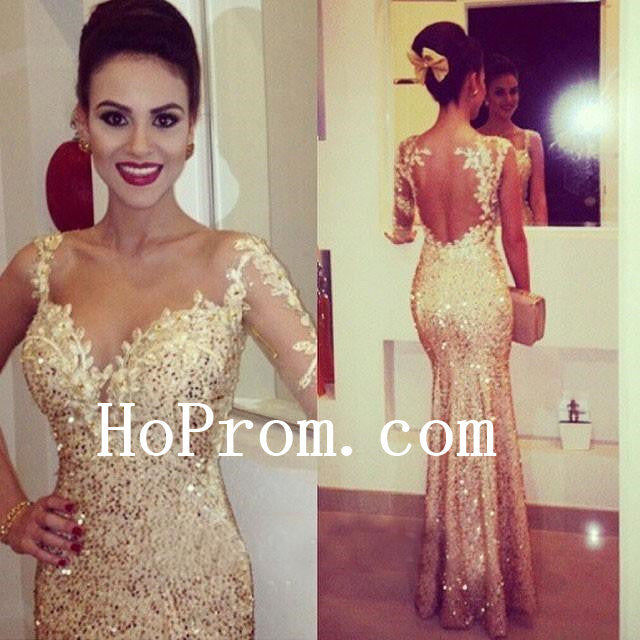 Sparkle Sequin Prom Dresses, Gold Prom Dress,Evening Dress