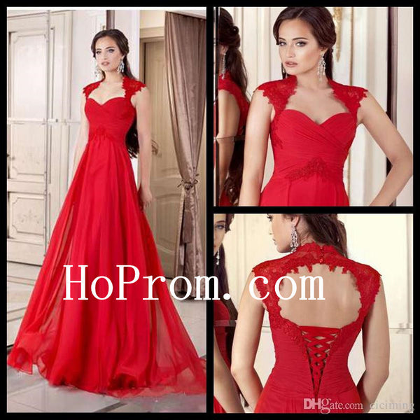 A-Line Red Prom Dresses,Long Prom Dress,Evening Dress