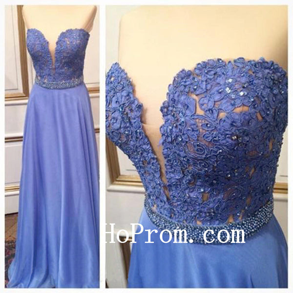Lavender Applique Prom Dresses,Sweetheart Prom Dress,Evening Dress