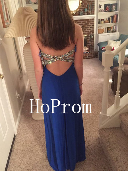 Royal Blue Prom Dresses,Sweetheart Prom Dress,Evening Dress