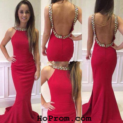 Backless Prom Dress Red Backless Prom Dress Evening Dresses