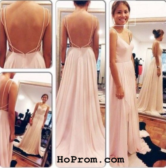 A Line Prom Dresses Chiffon Evening Dresses