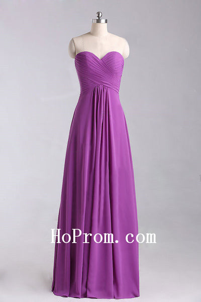 A-Line Chiffon Prom Dress,Long Purple Prom Dresses,Evening Dress