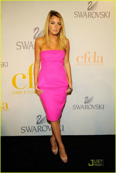 Pink Blake Lively Short Prom Celebrity Hot Dress CFDA Awards