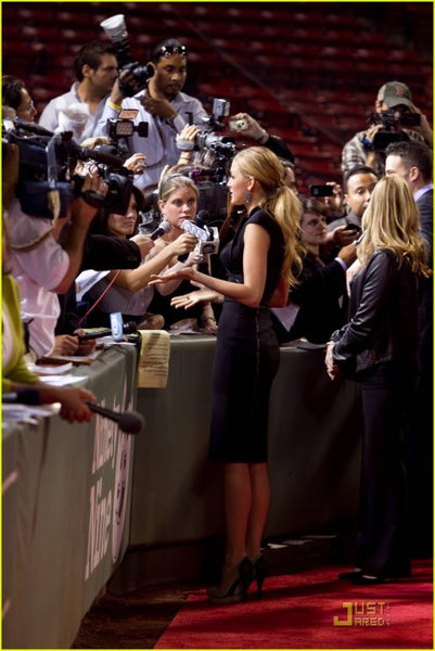 Black Blake Lively Stand collar Prom Celebrity Dress Red Carpet The Town Boston Premiere