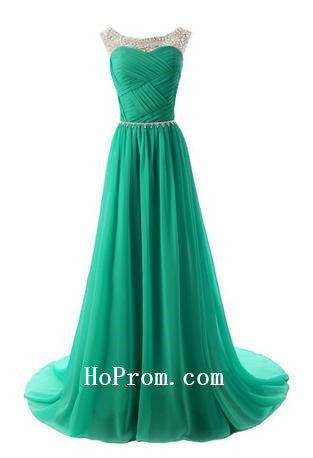 Long Prom Dresses,Green Prom Dress,Evening Dress