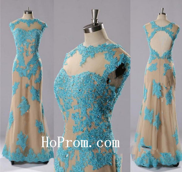 Applique Beading Prom Dresses,Long Prom Dress, Evening Dresses
