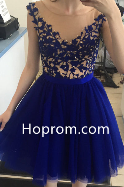 2020 Royal Blue Homecoming Dresses Open Back Short Party Dresses