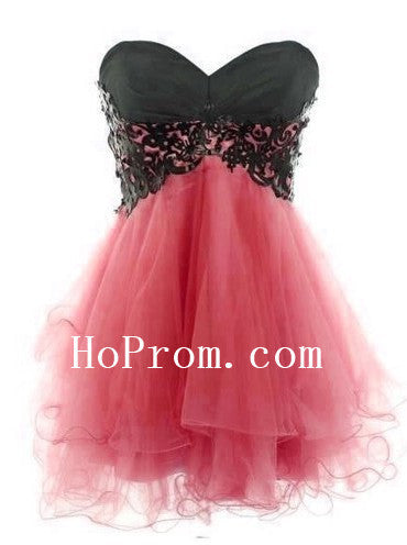 Sweetheart Short Prom Dresses,Watermelon Prom Dress,Evening Dress