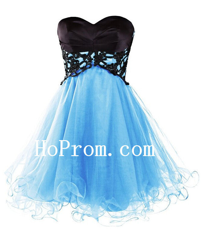 Sweetheart Short Prom Dresses,Sky Blue Prom Dress,Evening Dress