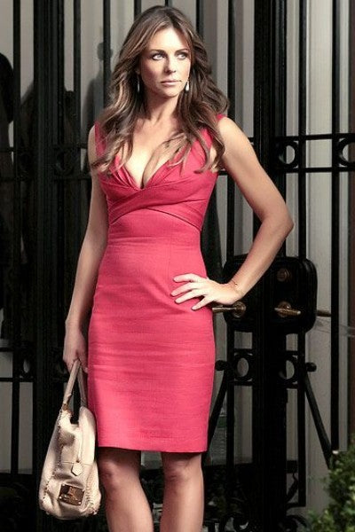 Red Elizabeth Hurley Diana Paynes Short Satin Dress Party Prom Celebrity Dress Gossip Girl