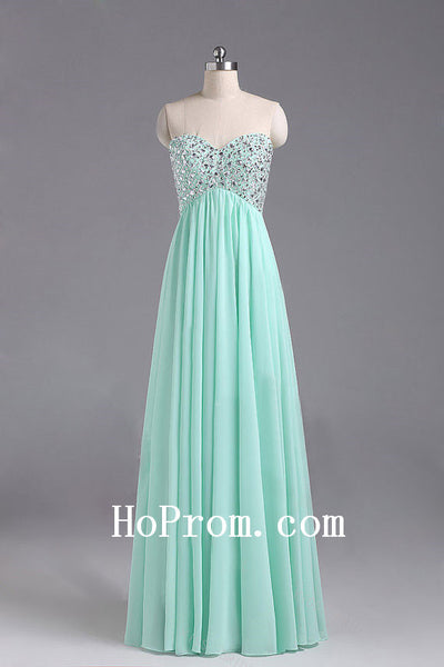 Crystals Simple Prom Dress,Sweetheart Prom Dresses,Evening Dress