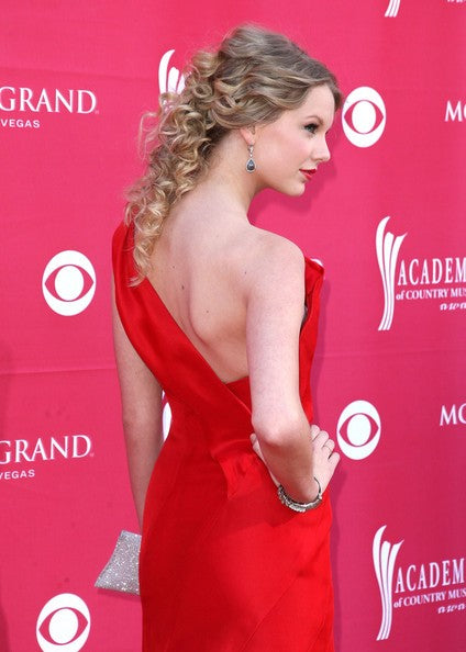 Red Taylor Swift Sexy Satin One Shoulder Dress Long Prom Evening Celebrity Dress ACMs