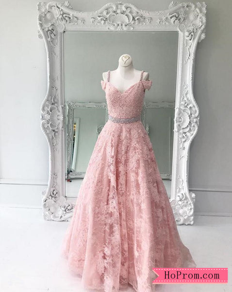 Off Shoulder Cap Sleeves Sweetheart Lace Prom Dress