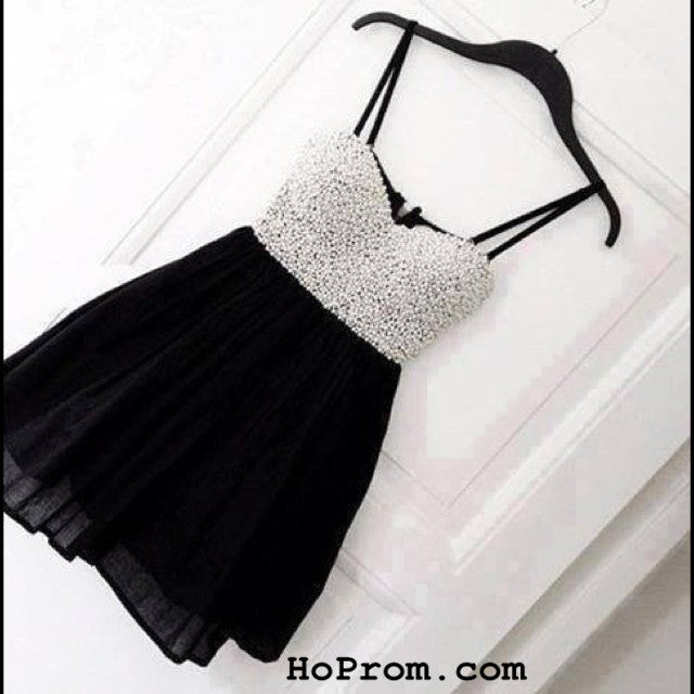 Black Short Prom Dresses Black Prom Dress – Hoprom