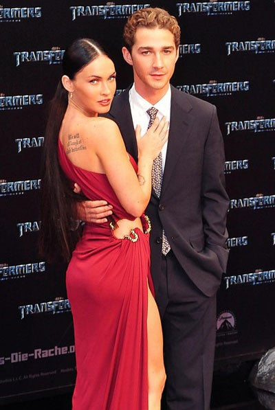 Red Megan Fox One Shoulder High Slit Prom Celebrity Formal Dress Transformers Revenge of the Fallen Germany Premiere