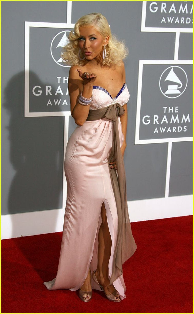 Pink Christina Aguilera Sweetheart Dress Strapless Prom Red Carpet Formal Dress Grammy Awards