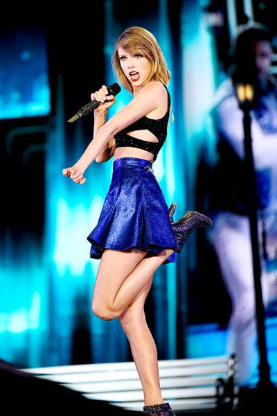 Black Purple Taylor Swift Short Mini Two Piece Dress Sparkly Prom Celebrity Dress 1989 World Tour