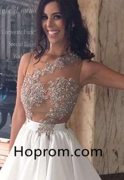 Appliques Chiffon Lace Beaded Sleeveless Short Homecoming Dress
