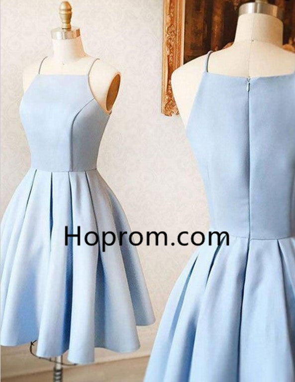 Strapless Cute Homecoming Dress, Baby Blue Homecoming Dress