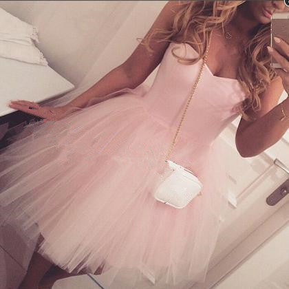 Sweetheart Homecoming Dress, Pink Homecoming Dresses