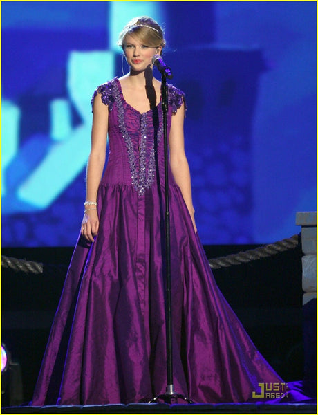 Purple Taylor Swift Sexy Sequins Prom Celebrity Dress CMA Awards
