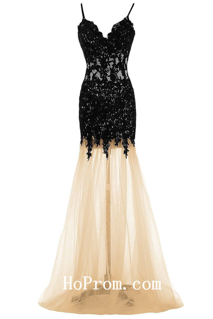 Spaghetti Straps Prom Dresses,Mermaid Prom Dress,Evening Dresses