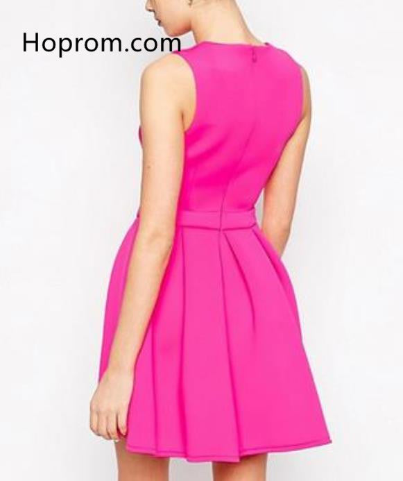 Hot Pink Short Formal Dress ,Hot Pink Short Casual Dress ,Hot Pink Short Graduation Dresses,Hot Pink Short Homecoming Dresses,
