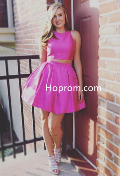 Simple Homecoming Dress, Two Piece Charming Party Dresses