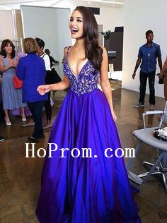 Blue Applique Prom Dresses, A-Line Prom Dress,Evening Dress