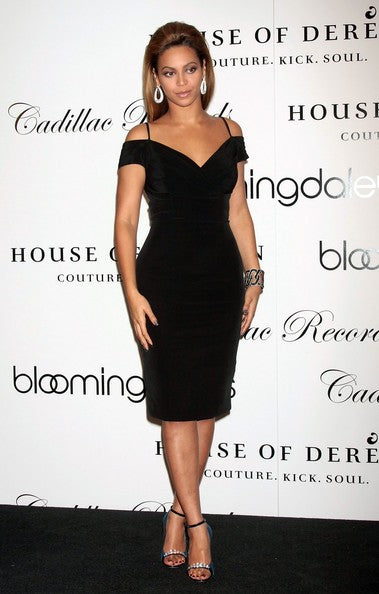 Black Beyonce Knowles Party Dress Knee Length Prom Red Carpet Formal Dress The New House Of Dereon Collection