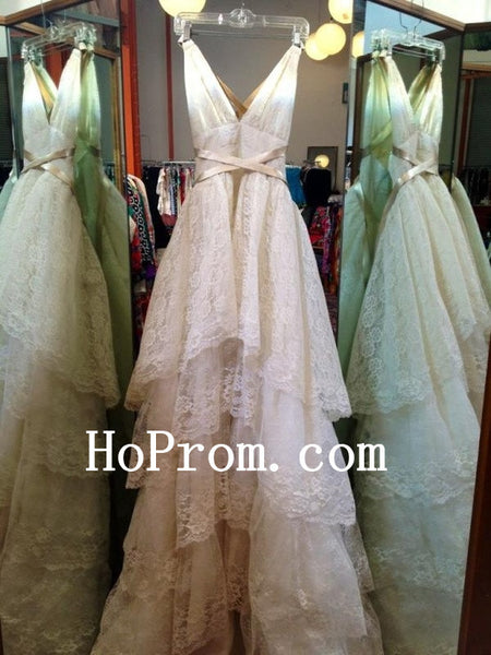 Lace Ruffles Prom Dresses,Lovely Prom Dress,Evening Dress
