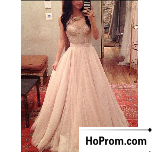 Sweetheart Lace Tulle A-Line Prom Dress Evening Dresses