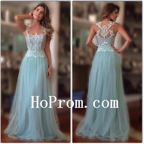 Tulle Chiffon Prom Dresses,A-Line Prom Dress,Evening Dresses