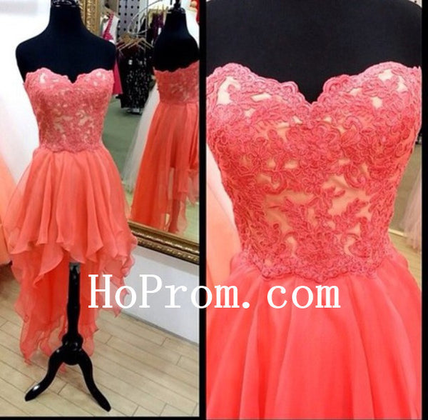 High Low Prom Dresses,Sweetheart Prom Dress,Evening Dresses