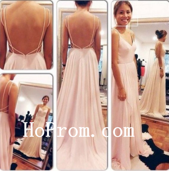 Open Back Prom Dresses,Spaghetti Straps Prom Dress,Evening Dress