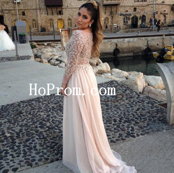 Sparkling Prom Dress,Long Sleeve Prom Dress,Evening Dress