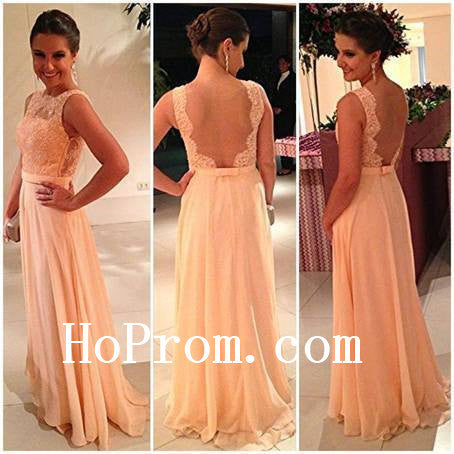 Simple Prom Dresses,A-Line Prom Dress,Lace Chiffon Evening Dresses