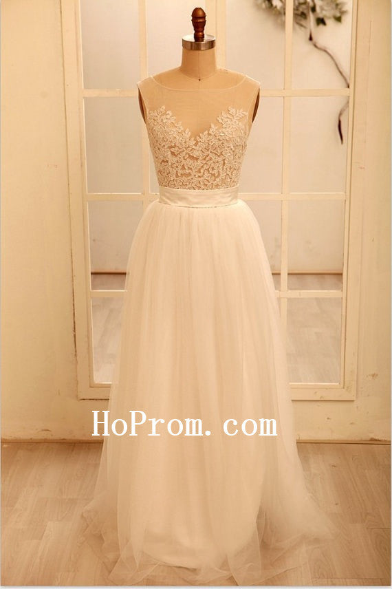 Simple White Prom Dresses,A-Line Prom Dress,Evening Dress