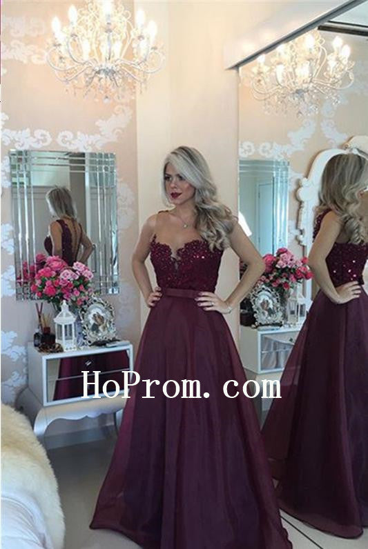 Sheer Illusion Prom Dresses,A-Line Prom Dress,Evening Dress