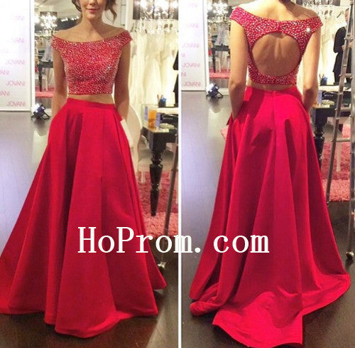 Off Shoulder Prom Dresses,Red Prom Dress,Evening Dress