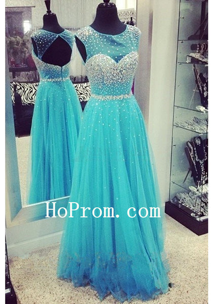 Sparkle Prom Dresses,Blue Prom Dress,Evening Dresses