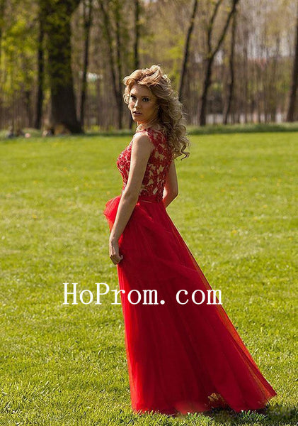 Red Stunning Prom Dresses,A-Line Prom Dress,Evening Dress