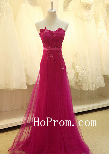 Rose Red Prom Dress,Sweetheart Prom Dresses,Evening Dress