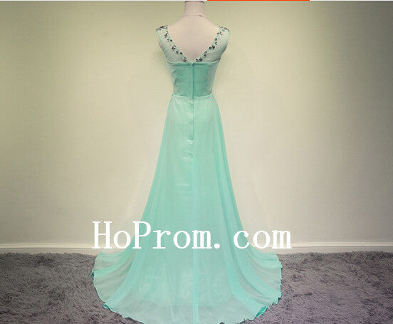 Long Prom Dresses,Mint Prom Dress,Chiffon Evening Dresses