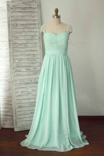 Lovely Prom Dresses,Mint Blue Prom Dress,Evening Dresses