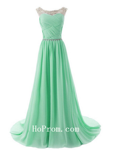 Long Prom Dresses,Light Green Prom Dress,Evening Dress