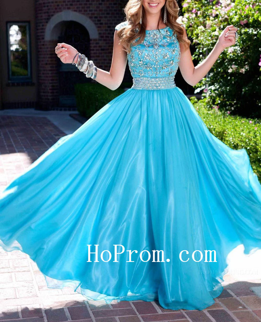 Sky Blue Prom Dresses,A-Line Prom Dress,Evening Dress