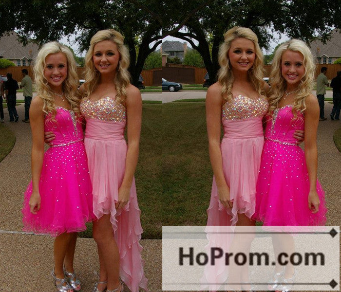 High Low Sweetheart Chiffon Prom Dresses Homecoming Dresses